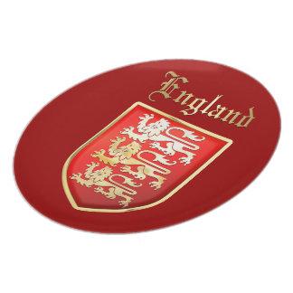 Die königlichen Arme von England Teller