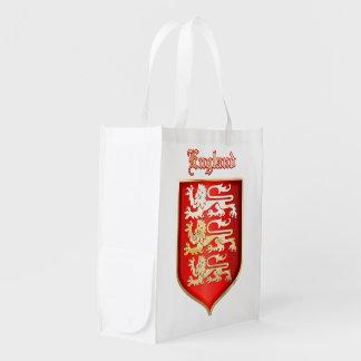 die königlichen Arme von England Wiederverwendbare Einkaufstasche