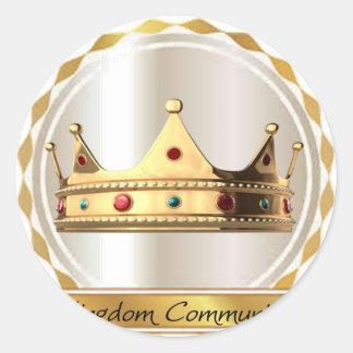 Die Königreich-Gemeinschaftskrone 2 Runder Aufkleber