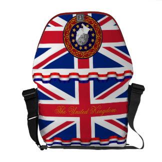 Die Königreich-Königin-Monogramm-Bote-Tasche Kurier Tasche