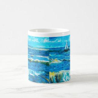 Die Kopie des Meisters: Meerblick durch Van Gogh Kaffeetasse