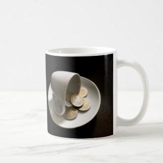 Die Kosten des Kaffees Kaffeetasse