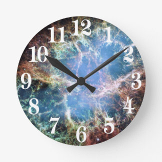 Die Krabben-Nebelfleck-Supernova NASA Runde Wanduhr
