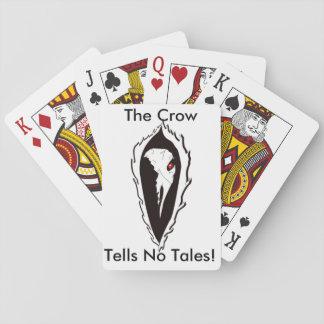 Die Krähe sagt keinen Geschichten-Spielkarten Spielkarten
