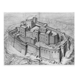 Die Krak DES-Ritter, Rekonstruktion Postkarte