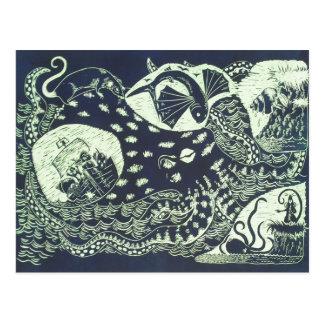 Die Krake und die Ratte Postkarte
