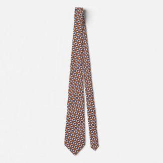 Die Krawatte der orange Stern-Blumen-Männer