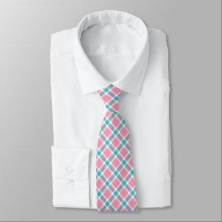Die Krawatte der Türkis-Blau-, rosa u.