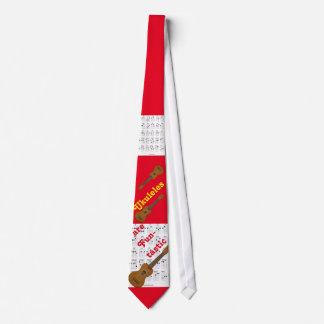 Die Krawatte des Ukulele-Spielers