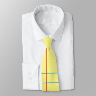 Die Krawatte gelbes der