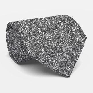 Die Krawatte silberner Paisley-Männer
