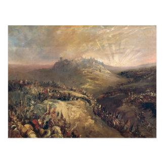 Die Kreuzfahrer vor Jerusalem Postkarte