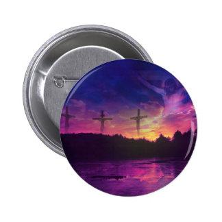 Die Kreuzigung des Jesus Christus Anstecknadelbutton