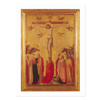 Die Kreuzigung (Tempera auf Platte) Postkarte