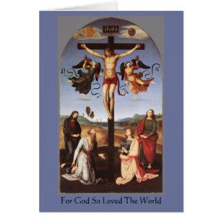 Die Kreuzigung von Christus durch RAPHAEL Karte