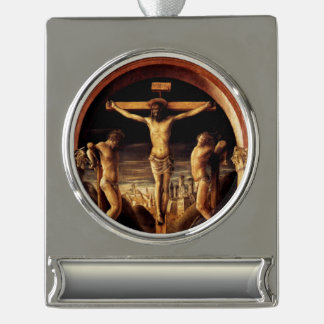 Die Kreuzigung von Jesus durch Vincenzo Foppa - Banner-Ornament Silber