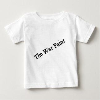 """""""Die Kriegsbemalung-"""" Schwarztextlogo Baby T-shirt"""