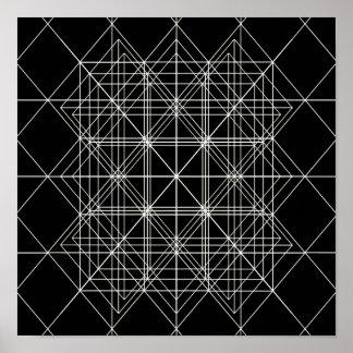 Die Kristalltempel-heilige Geometrie Poster