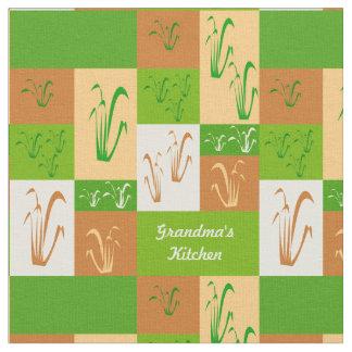 Die Küchen-Fall-Gras der Großmutter Stoff