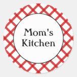 Die Küchen-kundenspezifischer roter Gitter-Aufkleb