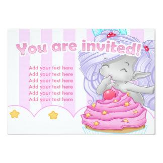 Die Kuchenfee Individuelle Einladungskarte