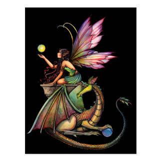 Die Kugel-Fee und Drache des Drachen durch Molly Postkarten
