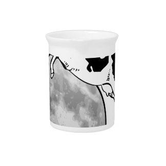 Die Kuh springend über den Mond Getränke Pitcher