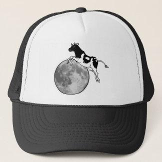 Die Kuh springend über den Mond Truckerkappe
