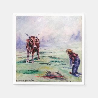 Die Kuh und das Kind/The gehe ich cow and the Servietten