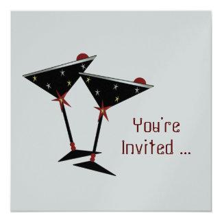 Die kundenspezifische silberne Party Einladung des