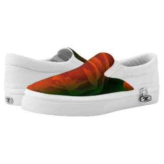 Die kundenspezifischen Blumenturnschuhe der Frauen Slip-On Sneaker