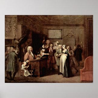 Die Kündigung durch William Hogarth Poster
