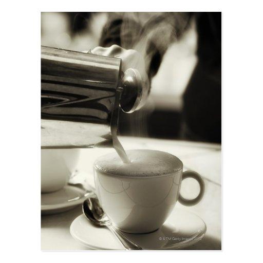 Die Kunst der neuen Kaffeeherstellung/Hinzufügen g Postkarte