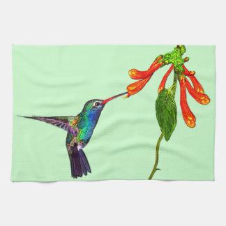 Die Kunst-Reihe wilder Kolibri Vogel-Liebhaber Handtuch
