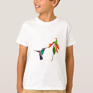 Die Kunst-Reihe wilder Kolibri Vogel-Liebhaber T-Shirt