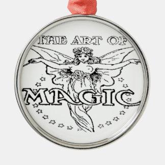 die Kunst von magischem Schwarzweiss Silbernes Ornament