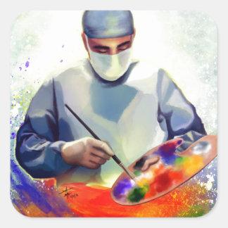 Die Kunst von Medizin Quadratischer Aufkleber