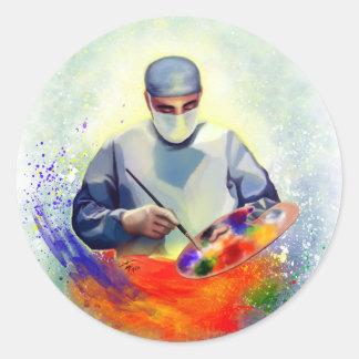 Die Kunst von Medizin Runder Aufkleber