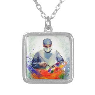 Die Kunst von Medizin Versilberte Kette
