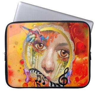 Die Künstlerpalette Laptopschutzhülle