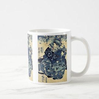 Die Kurtisane Hanao von Ogiya durch Utagawa, Kaffeetasse