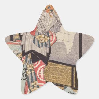Die Kurtisane Hitomoto des Daimonjiya Hauses Stern Aufkleber