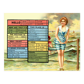 Die Küsten-Grüße der beschäftigten Person Postkarte