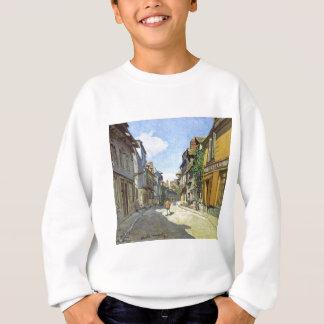 Die La-Rue Bavolle bei Honfleur durch Claude Monet Sweatshirt