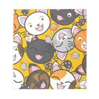 Die lachenden Katzen Notizblock