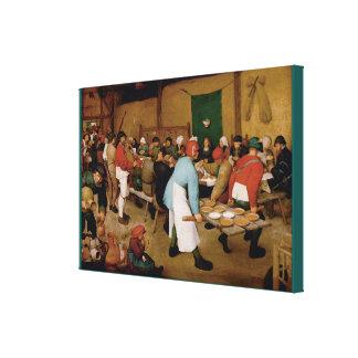 Die ländliche Hochzeit durch Pieter Bruegel das Galerie Faltleinwand