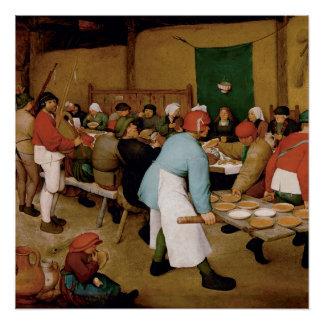 Die ländliche Hochzeit durch Pieter Bruegel das Poster