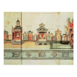 Die Landschaft für Valenciennes-Geheimnis-Spiel Postkarte