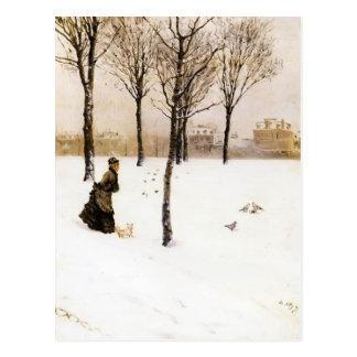 Die Landschaft Winters Giuseppe de Nittis- A Postkarte