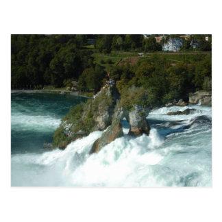 Die landschaftlichen Rheinfall in der Schweiz Postkarte